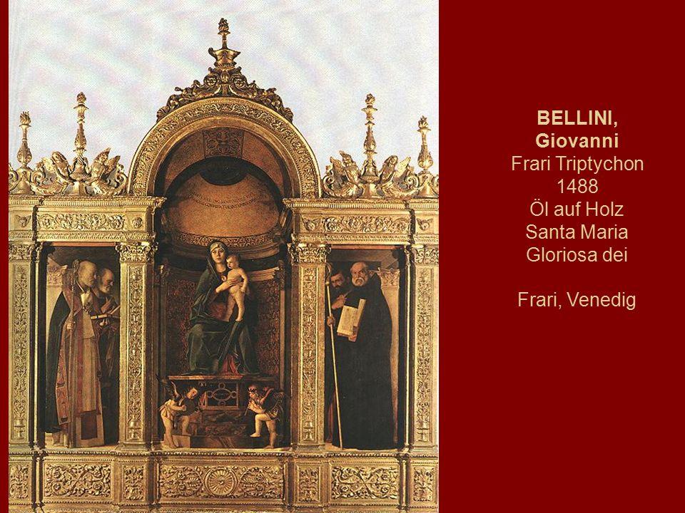 BELLINI, Giovanni Frari Triptychon 1488 Öl auf Holz Santa Maria Gloriosa dei Frari, Venedig