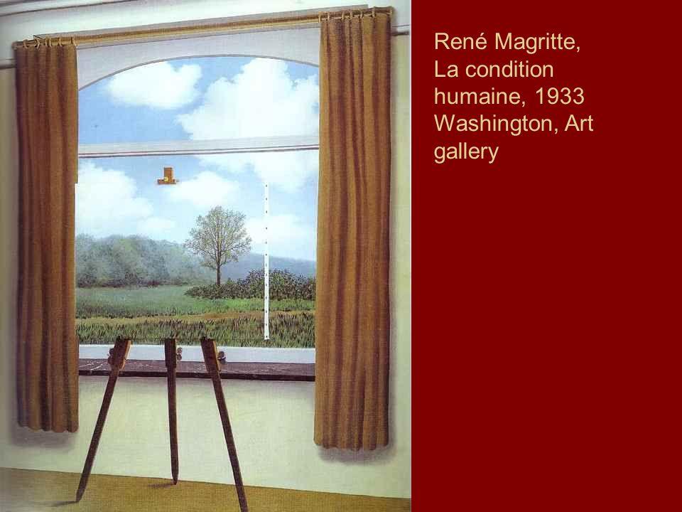 René Magritte, La condition humaine, 1933 Washington, Art gallery