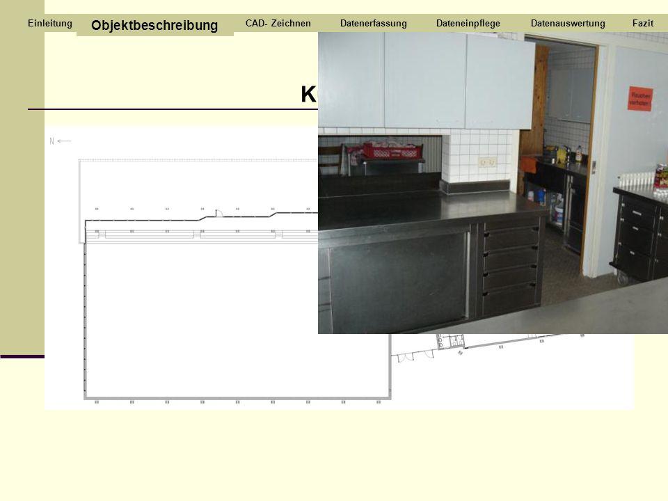 Küche Objektbeschreibung CAD- ZeichnenDatenerfassungDateneinpflegeDatenauswertungFazitEinleitung