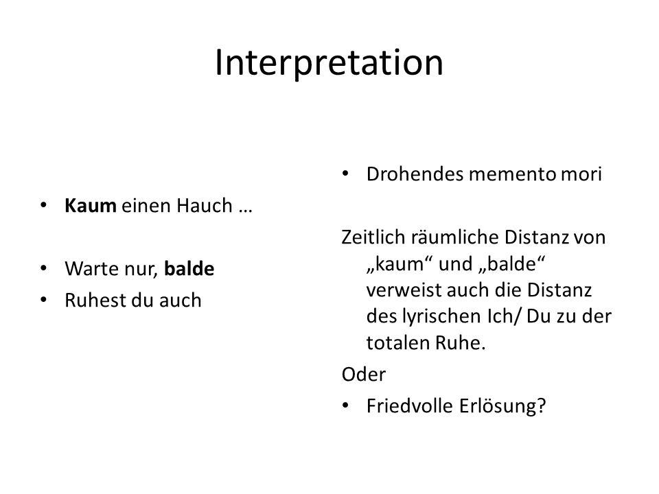 Rezeption Franz SchubertFranz Schubert, der Goethe sehr verehrte und sich von ihm stark inspiriert fühlte, vertonte um 1823 Ein Gleiches als Opus 96 Nr.