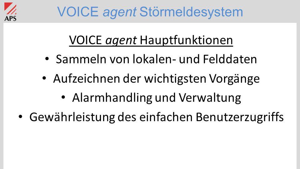 VOICE agent Störmeldesystem Applikation: Hotel