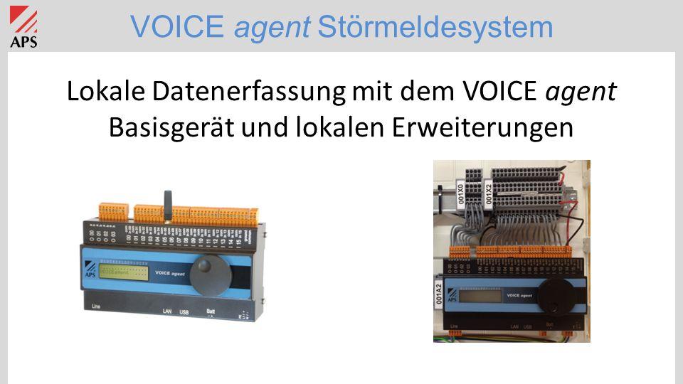 VOICE agent Störmeldesystem Lokale Datenerfassung mit dem VOICE agent Basisgerät und lokalen Erweiterungen
