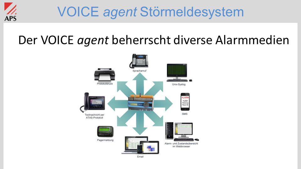 VOICE agent Störmeldesystem Der VOICE agent beherrscht diverse Alarmmedien