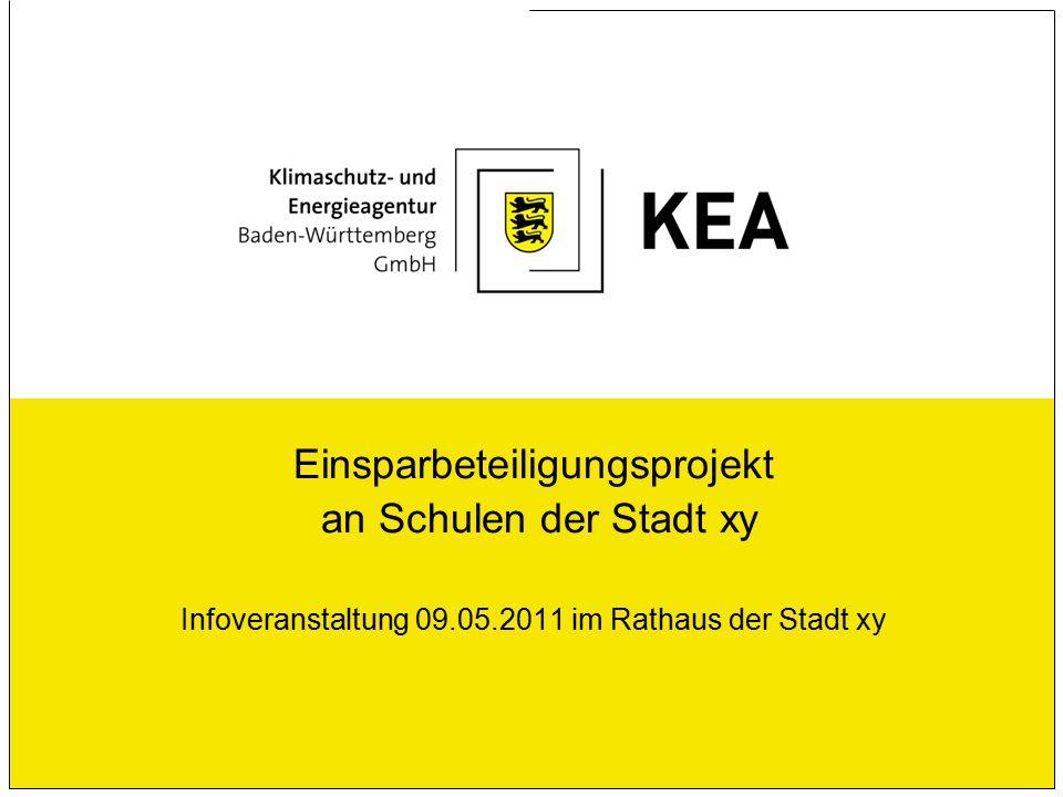 Einsparbeteiligungsprojekt an Schulen der Stadt xy Infoveranstaltung 09.05.2011 im Rathaus der Stadt xy