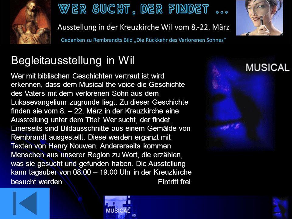 Story Billettpreise Begleitausstellung in Wil Der Gottesdienst zum Musical Ortsplan Bronschhofen Anfahrtsweg Lokaler Veranstalter Sponsoren