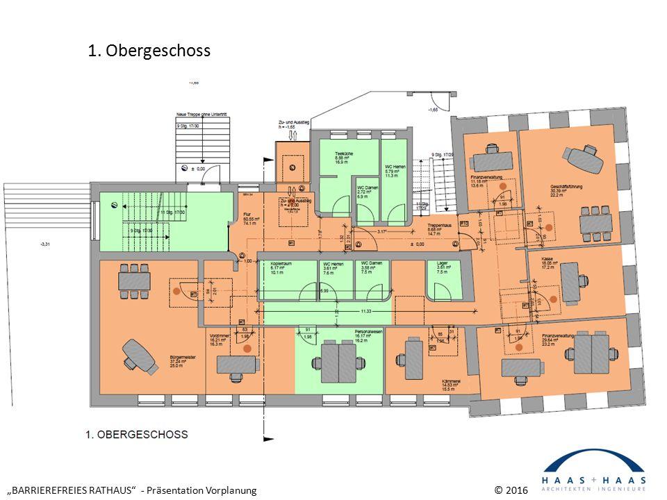 """""""BARRIEREFREIES RATHAUS - Präsentation Vorplanung © 2016 1. Obergeschoss"""