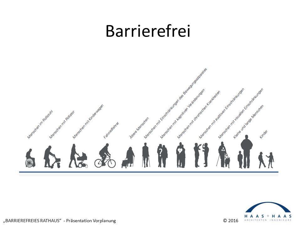 """""""BARRIEREFREIES RATHAUS - Präsentation Vorplanung © 2016 Barrierefrei"""
