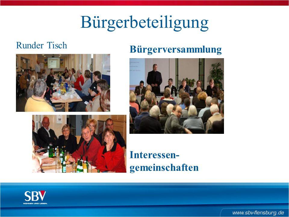 Bürgerbeteiligung Runder Tisch Bürgerversammlung Interessen- gemeinschaften