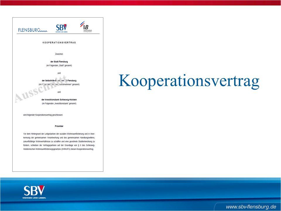 Kooperationsvertrag Ausschnitt