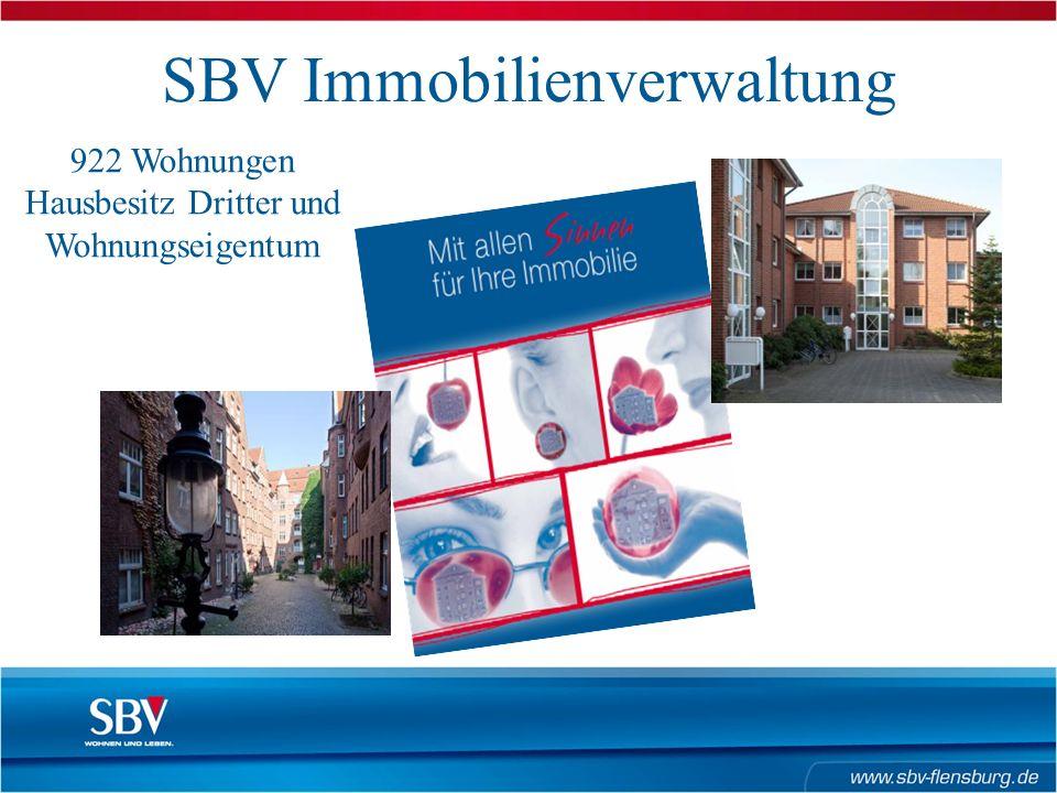 SBV Immobilienverwaltung 922 Wohnungen Hausbesitz Dritter und Wohnungseigentum