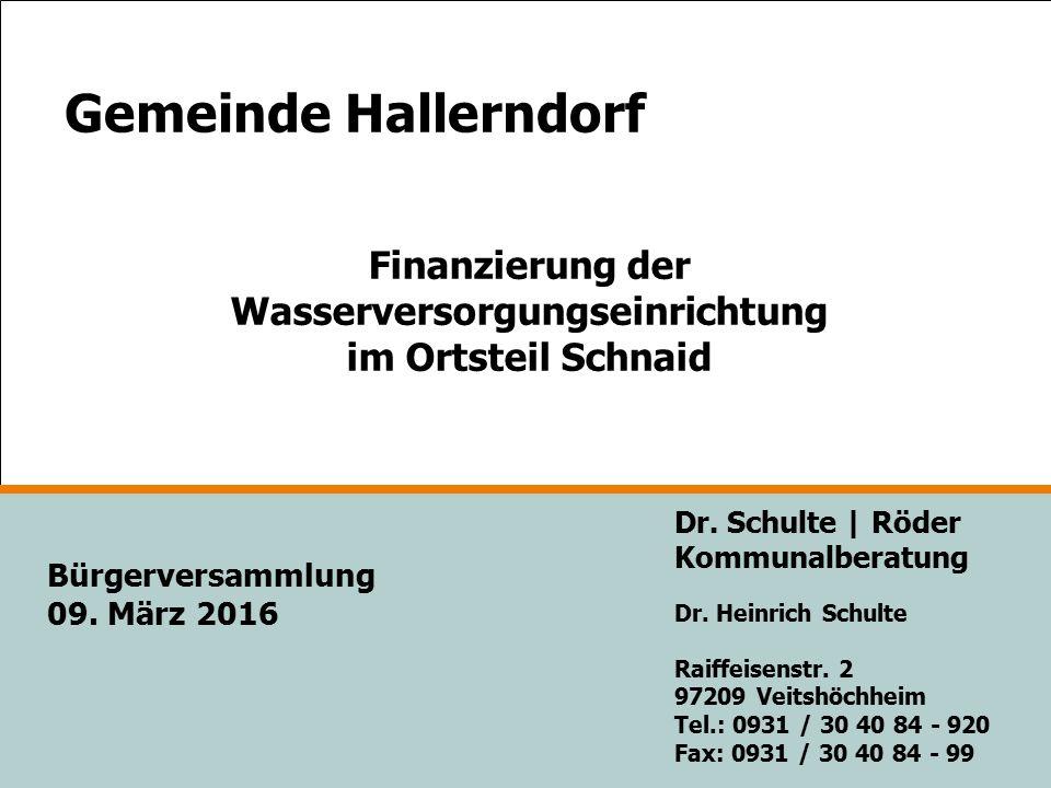 Gemeinde Hallerndorf Dr. Schulte | Röder Kommunalberatung Dr.