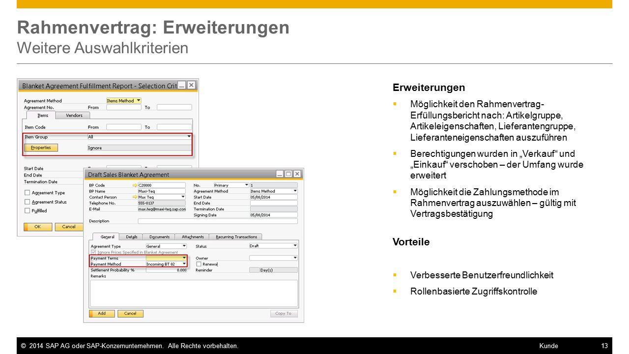 ©2014 SAP AG oder SAP-Konzernunternehmen.