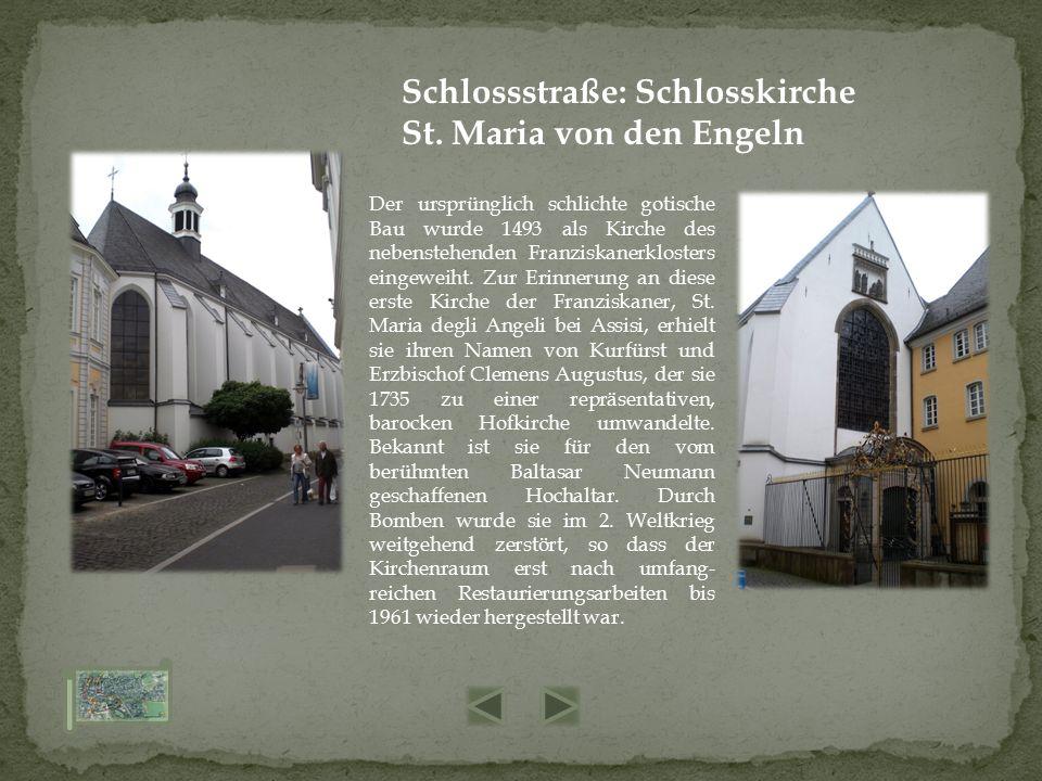 Der ursprünglich schlichte gotische Bau wurde 1493 als Kirche des nebenstehenden Franziskanerklosters eingeweiht. Zur Erinnerung an diese erste Kirche