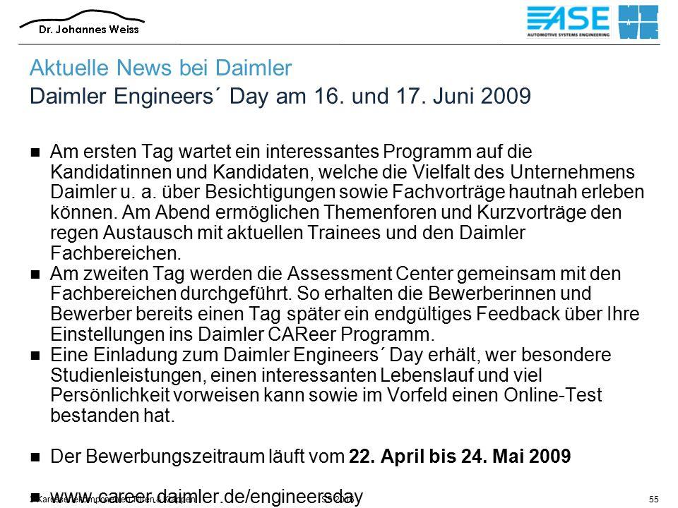 SS 20163 Karosseriekomponenten Türen & Klappen55 Aktuelle News bei Daimler Daimler Engineers´ Day am 16.