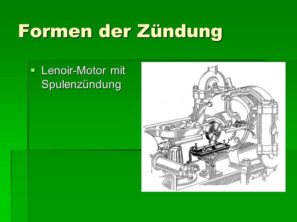 Formen der Zündung  Lenoir-Motor mit Spulenzündung