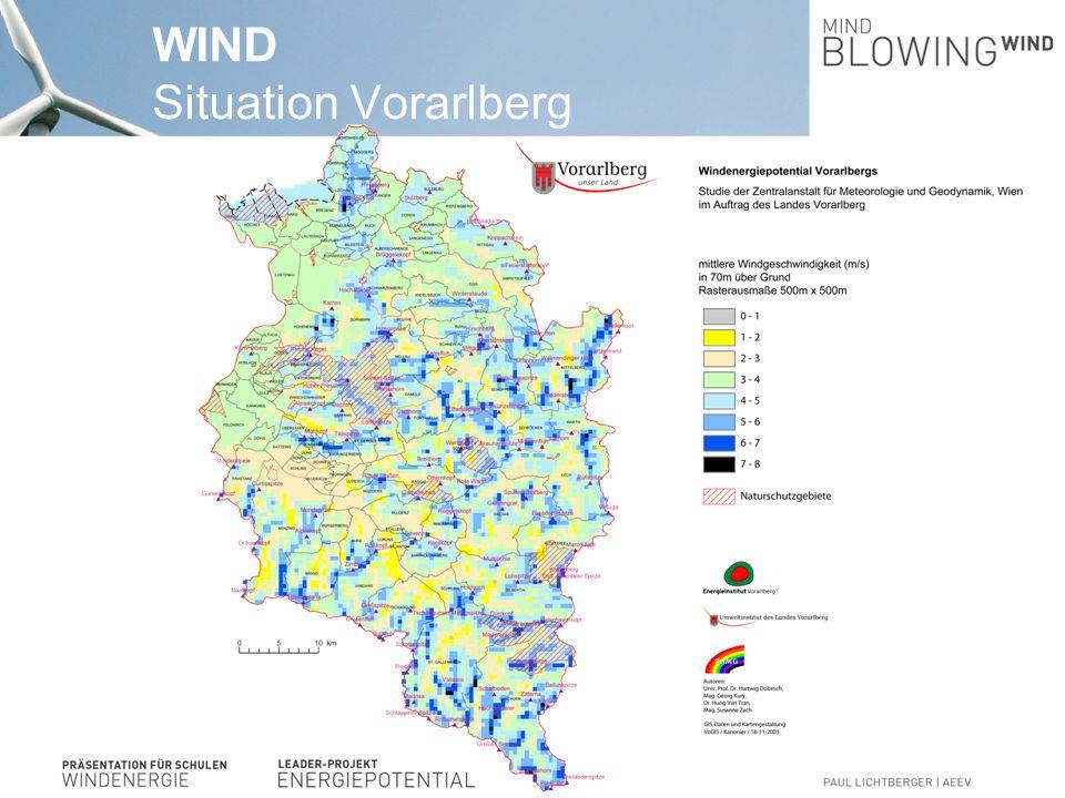 WINDKRAFTANLAGEN Situation Österreich