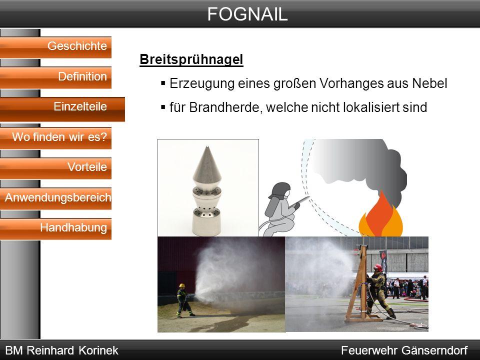 BM Reinhard KorinekFeuerwehr Gänserndorf FOGNAIL Geschichte Definition Wo finden wir es.