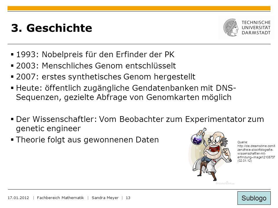 Sublogo 17.01.2012 | Fachbereich Mathematik | Sandra Meyer | 13 3.