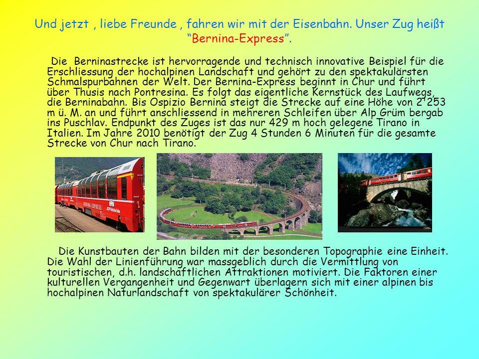 Die Schweiz beeindruckt durch ihre abwechslungsreiche, unberührte Natur ebenso wie durch ihren Reichtum an Traditionen.