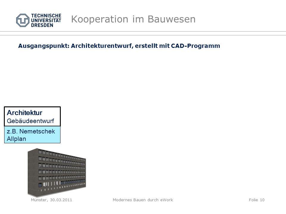 Kooperation im Bauwesen Architektur Gebäudeentwurf z.B.