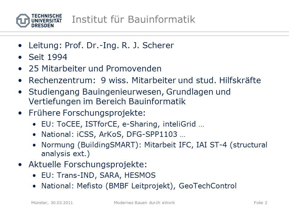 Leitung: Prof. Dr.-Ing. R. J.