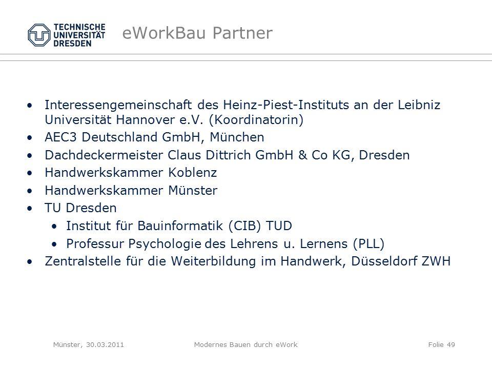eWorkBau Partner Interessengemeinschaft des Heinz-Piest-Instituts an der Leibniz Universität Hannover e.V.