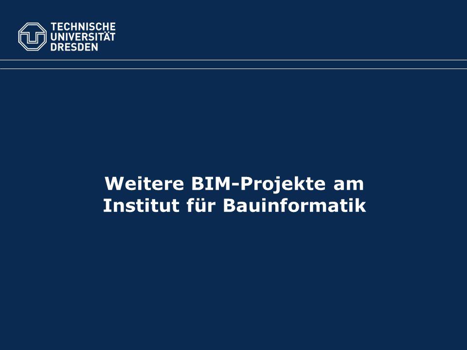 Weitere BIM-Projekte am Institut für Bauinformatik