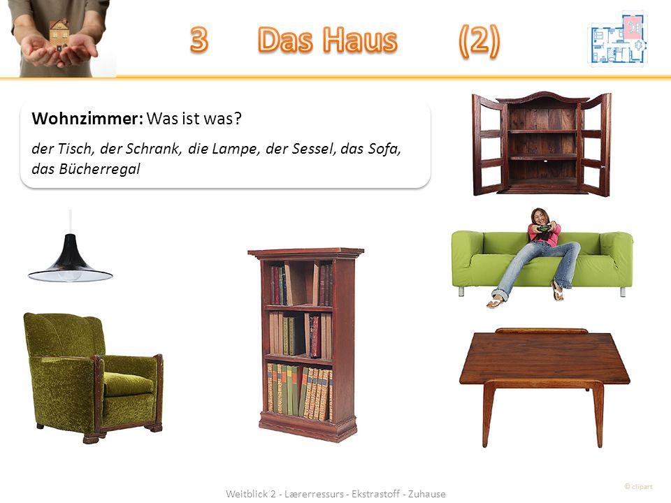 Weitblick 2 - Lærerressurs - Ekstrastoff - Zuhause Wohnzimmer: Was ist was.
