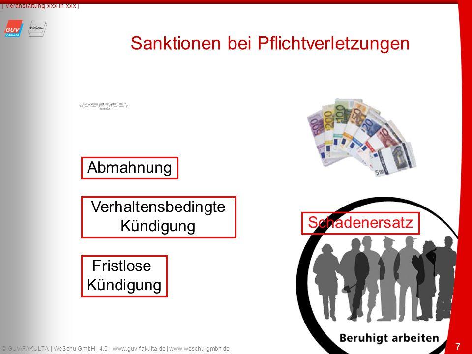 18 © GUV/FAKULTA | WeSchu GmbH | 4.0 | www.guv-fakulta.de | www.weschu-gmbh.de | Veranstaltung xxx in xxx | 18 Haftungserleichterungen auch bei grober Fahrlässigkeit Haftung eines Kraftfahrers bei grober Fahrlässigkeit LAG Mecklenburg-Vorpommern - Urteil vom 22.08.2006 - 3 Sa 389/05 Leitsatz: Bei grober Fahrlässigkeit sind Haftungserleichterungen zu Gunsten des Arbeitnehmers jedenfalls dann nicht ausgeschlossen, wenn der Verdienst des Arbeitnehmers in einem deutlichen Missverhältnis zum verwirklichten Schadensrisiko der Tätigkeit steht.