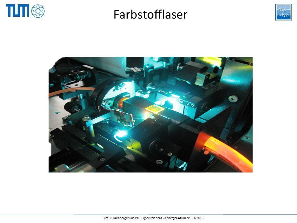 Farbstoff-Laser Ein Farbstofflaser ist eine in der Wellenlänge abstimmbare Laser-Lichtquelle, bei dem als optisch aktives Medium ein spezieller Fluoreszenzfarbstoff verwendet wird.