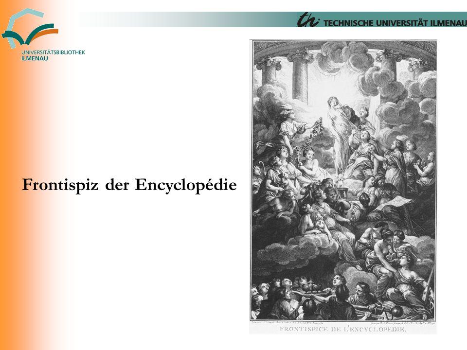 Frontispiz der Encyclopédie