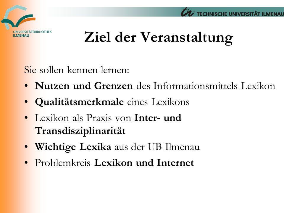 Enzyklopädie der Neuzeit Noch im Erscheinen.Interessant: Art.