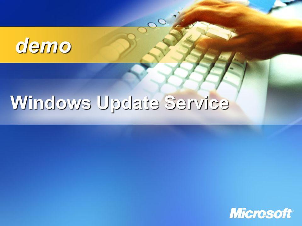 Windows Update Service demo demo