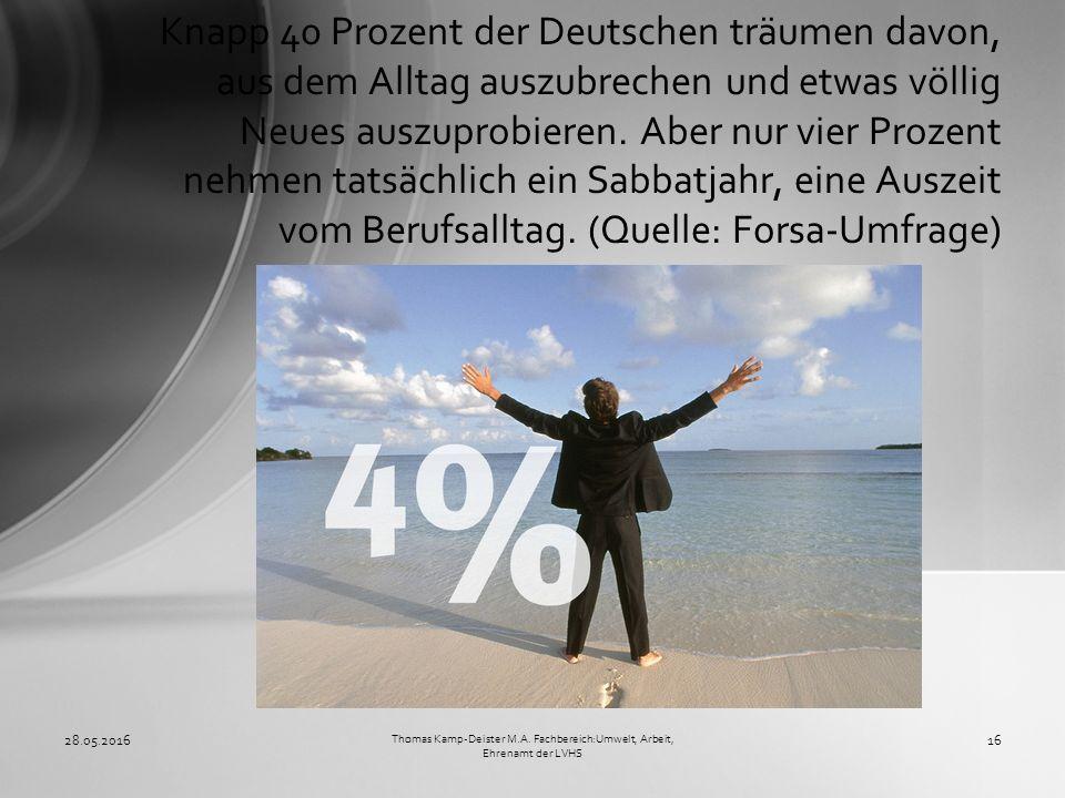 Knapp 40 Prozent der Deutschen träumen davon, aus dem Alltag auszubrechen und etwas völlig Neues auszuprobieren.