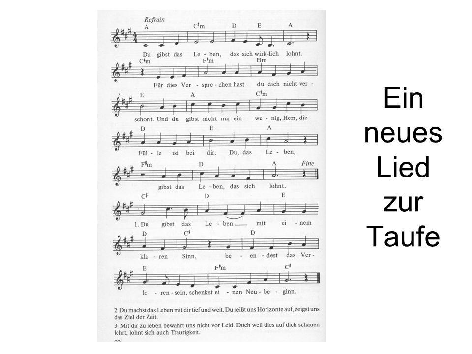 Ein neues Lied zur Taufe