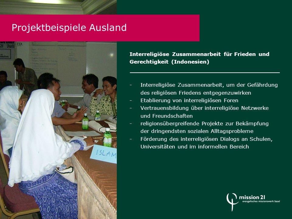 Projektbeispiele Ausland Interreligiöse Zusammenarbeit für Frieden und Gerechtigkeit (Indonesien) -Interreligiöse Zusammenarbeit, um der Gefährdung de