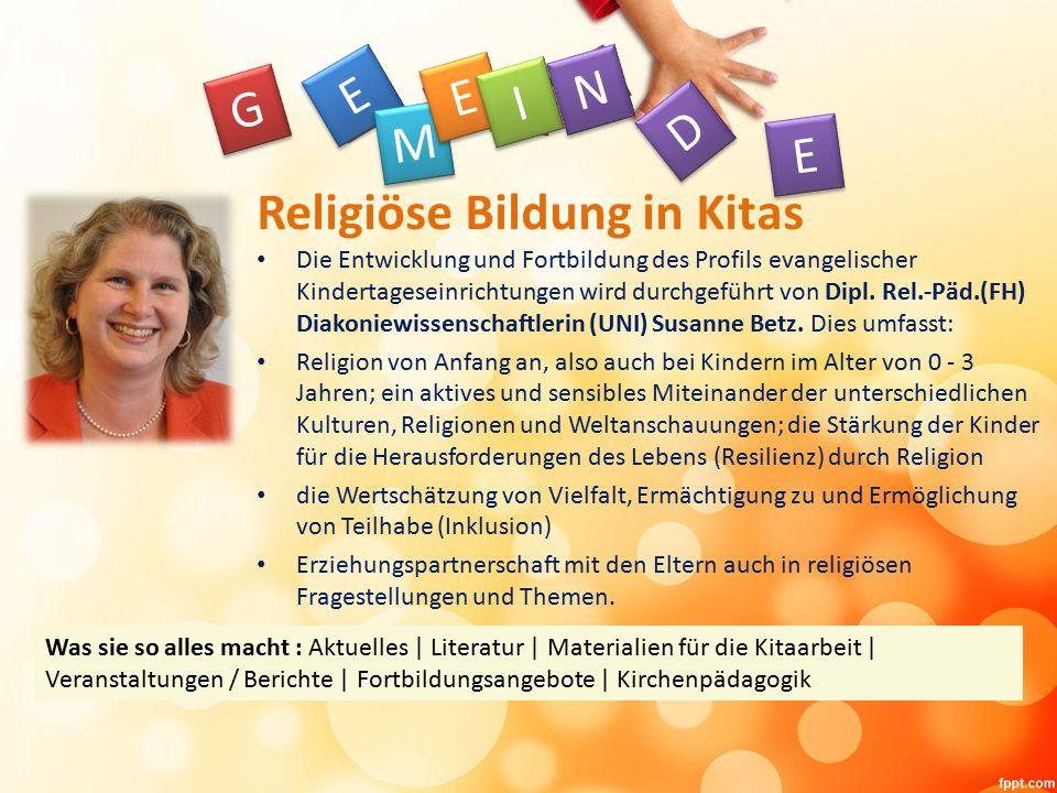 Die Entwicklung und Fortbildung des Profils evangelischer Kindertageseinrichtungen wird durchgeführt von Dipl.