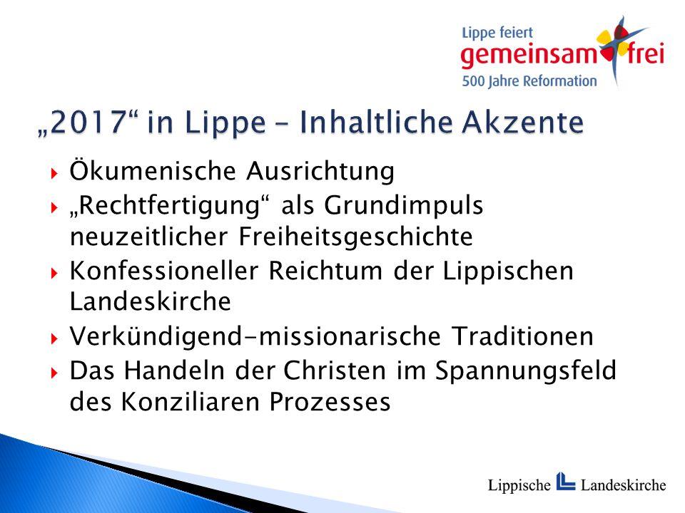 """""""2017 – Kommunikation  Zentrale Webseite mit Veranstaltungskalender www.lippe2017.de www.lippe2017.de"""