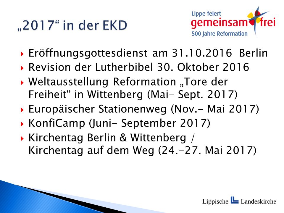 """ Eröffnungsgottesdienst am 31.10.2016 Berlin  Revision der Lutherbibel 30. Oktober 2016  Weltausstellung Reformation """"Tore der Freiheit"""" in Wittenb"""