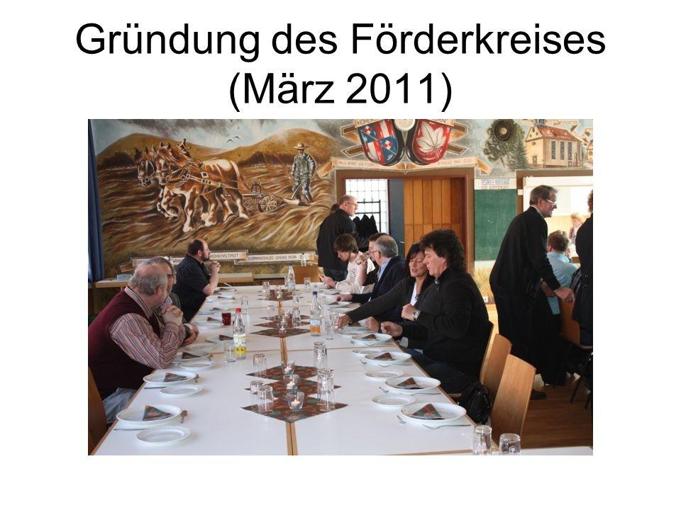 Gründung des Förderkreises (März 2011)