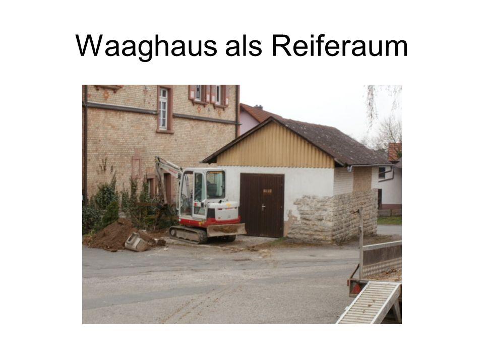 Waaghaus als Reiferaum