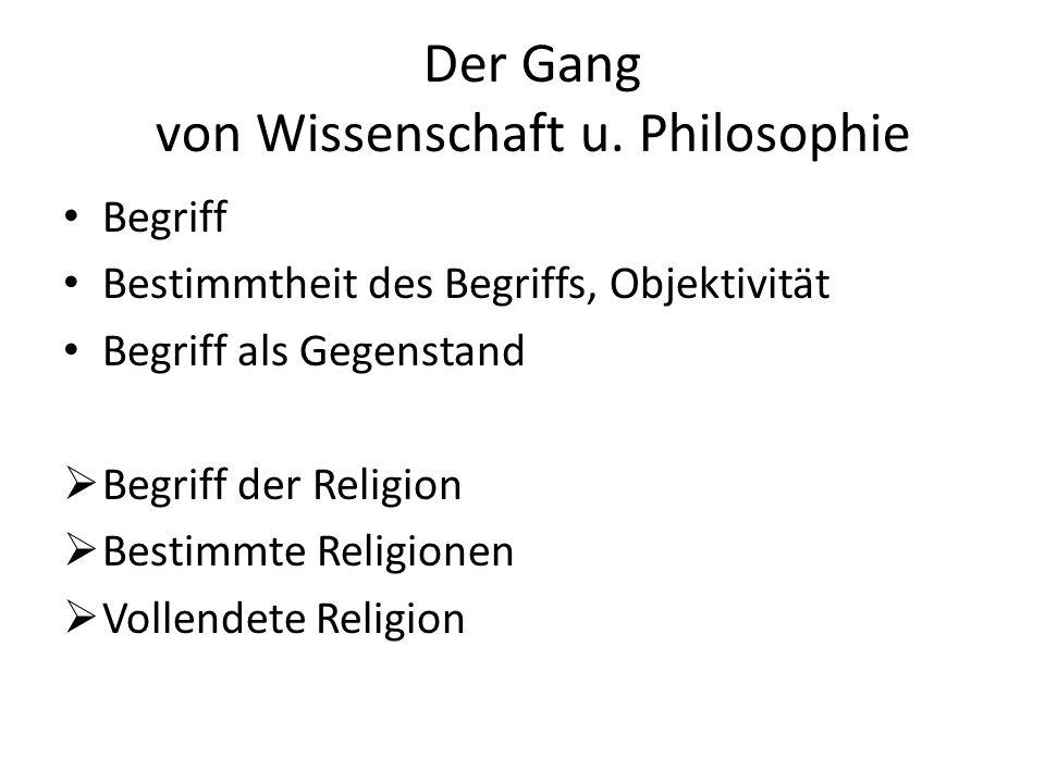 Der Gang von Wissenschaft u.