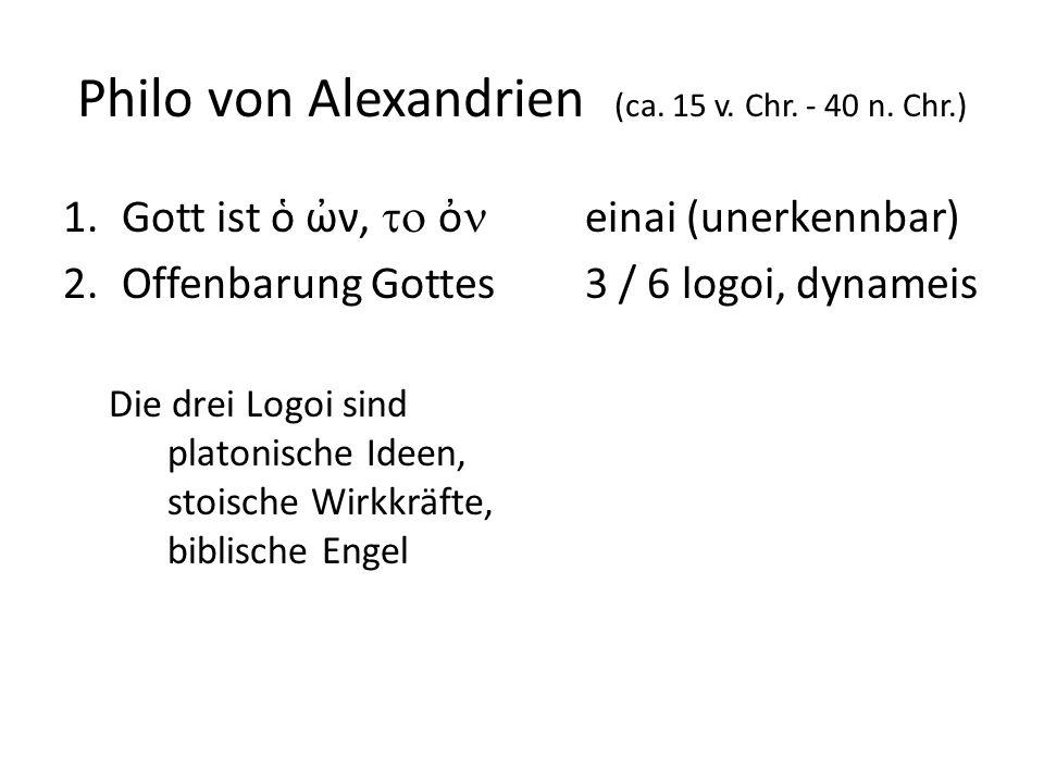Philo von Alexandrien (ca. 15 v. Chr. - 40 n.