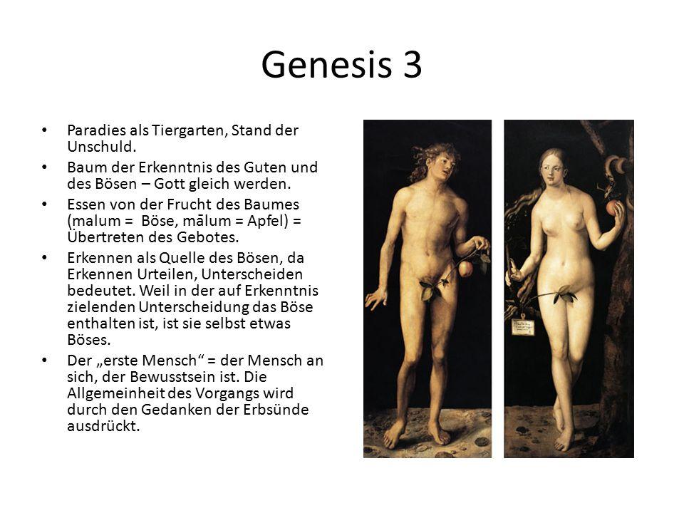 Genesis 3 Paradies als Tiergarten, Stand der Unschuld.