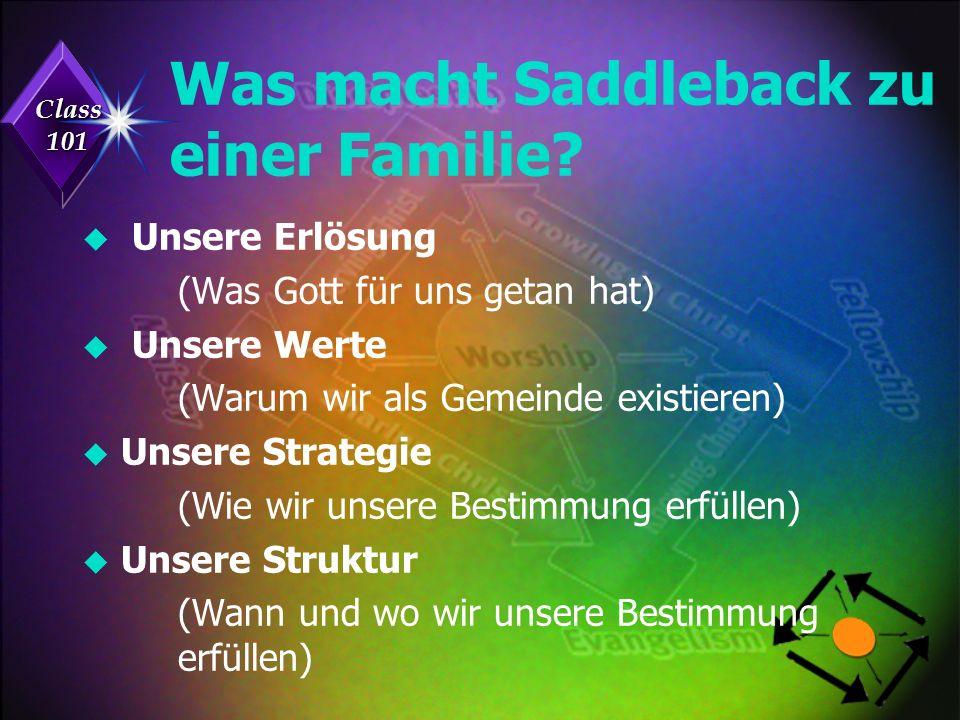 Class 101 Was macht Saddleback zu einer Familie.