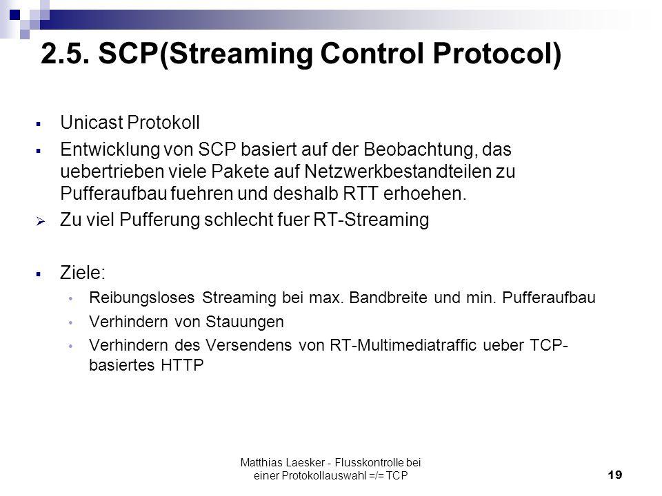 Matthias Laesker - Flusskontrolle bei einer Protokollauswahl =/= TCP19 2.5.