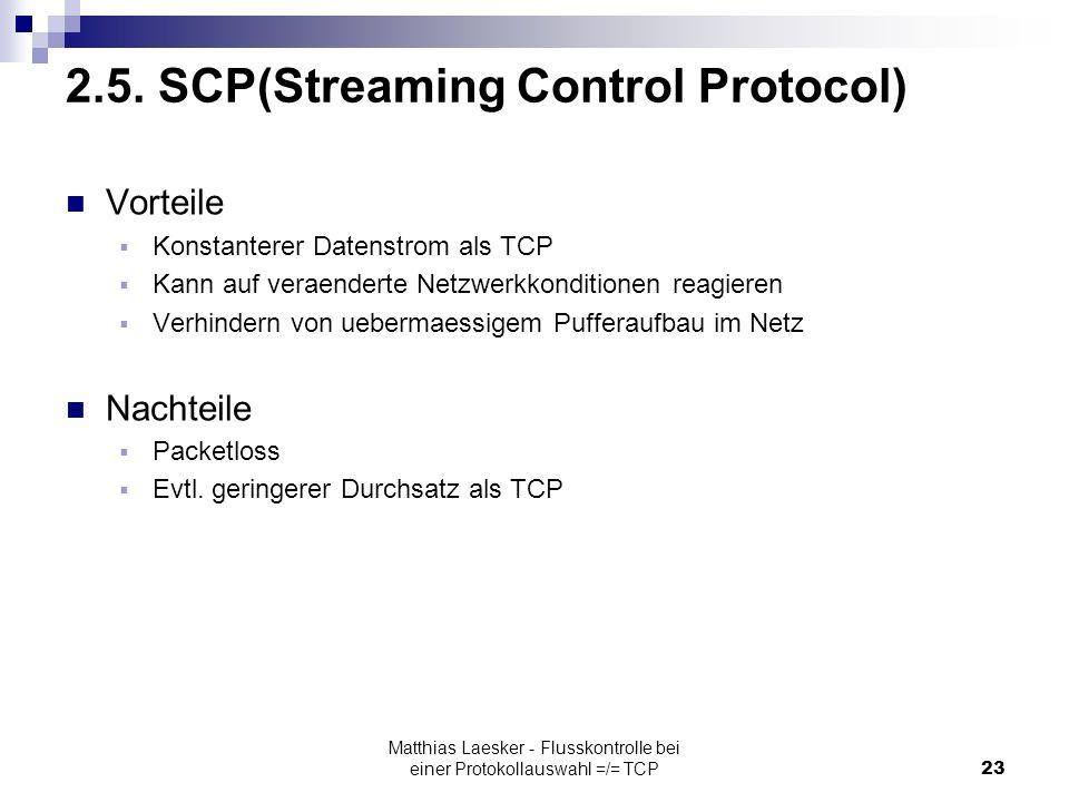 Matthias Laesker - Flusskontrolle bei einer Protokollauswahl =/= TCP23 2.5.