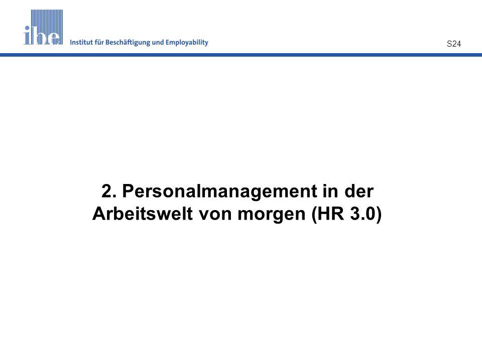 S24 2. Personalmanagement in der Arbeitswelt von morgen (HR 3.0)