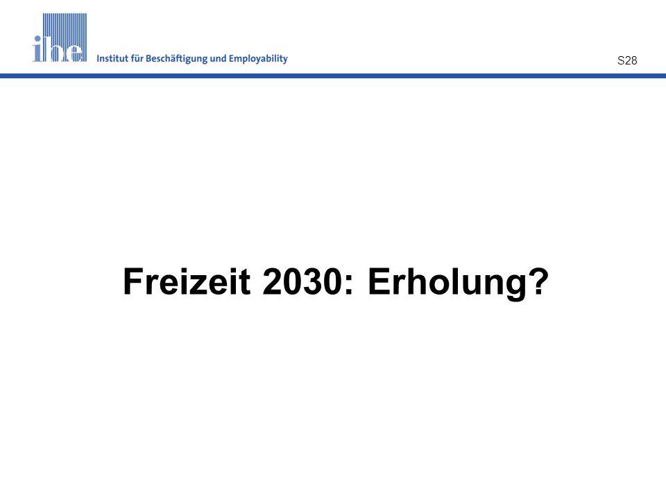 S28 Freizeit 2030: Erholung?