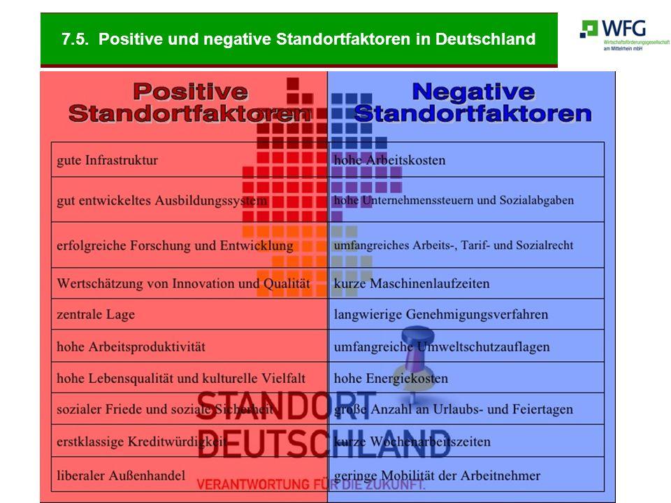 7.5. Positive und negative Standortfaktoren in Deutschland